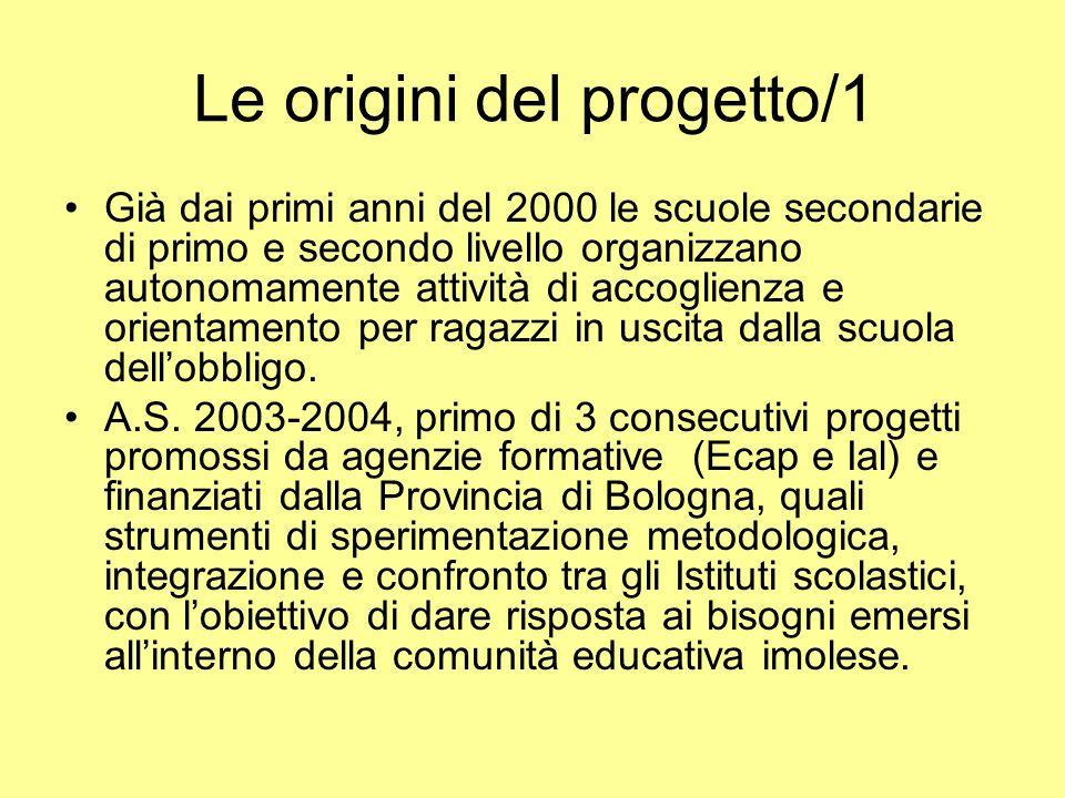 Le origini del progetto/1 Già dai primi anni del 2000 le scuole secondarie di primo e secondo livello organizzano autonomamente attività di accoglienz