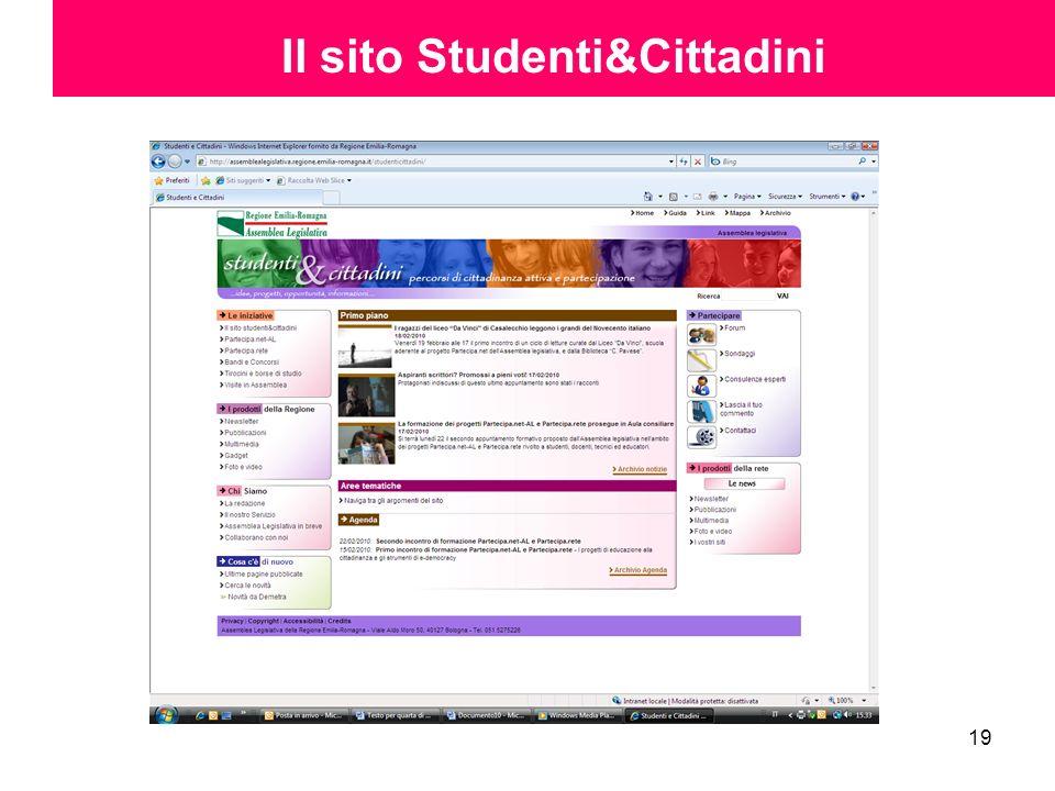 19 Il sito Studenti&Cittadini