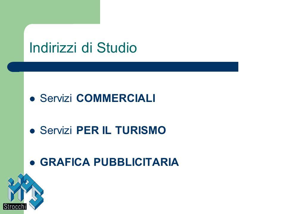 Indirizzi di Studio Servizi COMMERCIALI Servizi PER IL TURISMO GRAFICA PUBBLICITARIA