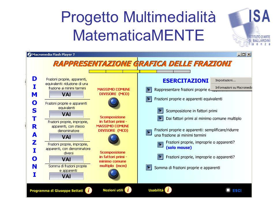 Progetto Multimedialità MatematicaMENTE