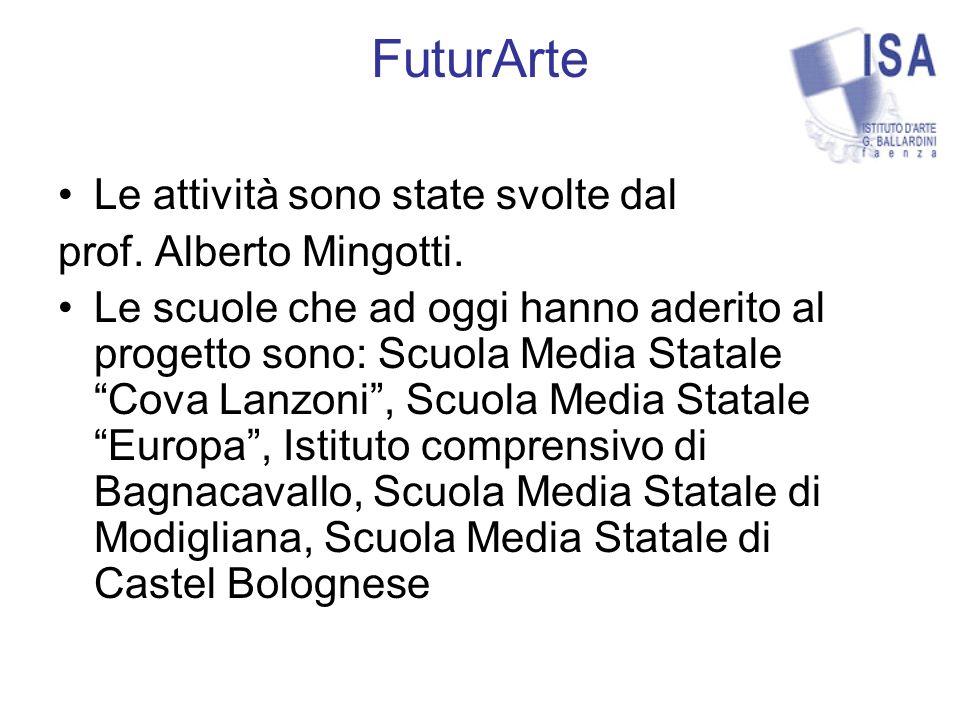 FuturArte Le attività sono state svolte dal prof. Alberto Mingotti.
