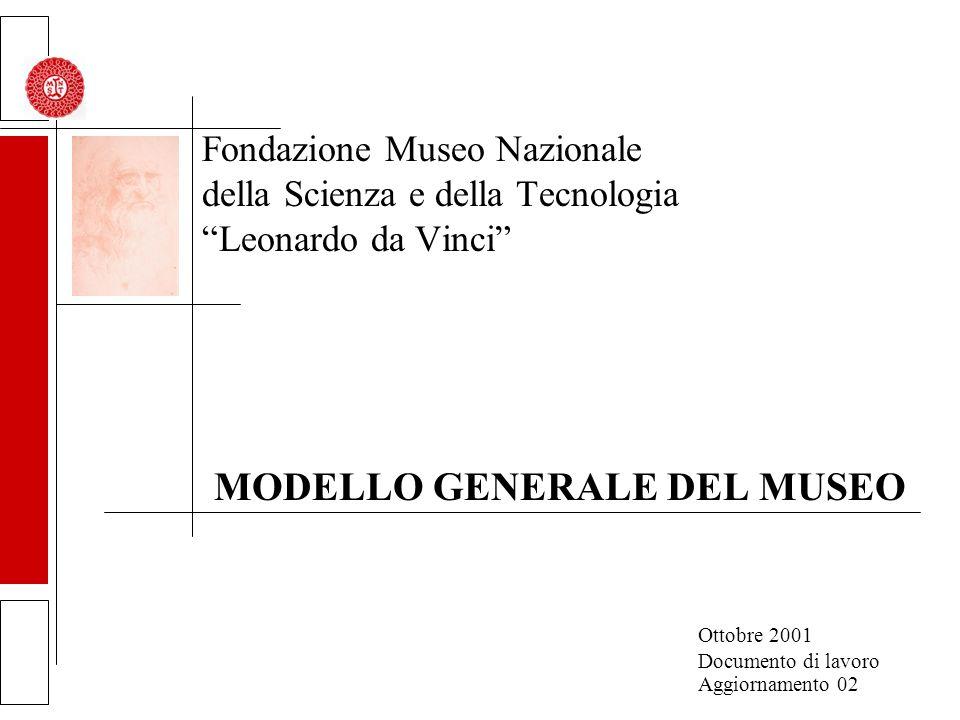 Fondazione Museo Nazionale della Scienza e della Tecnologia Leonardo da Vinci MODELLO GENERALE DEL MUSEO Ottobre 2001 Documento di lavoro Aggiornamento 02
