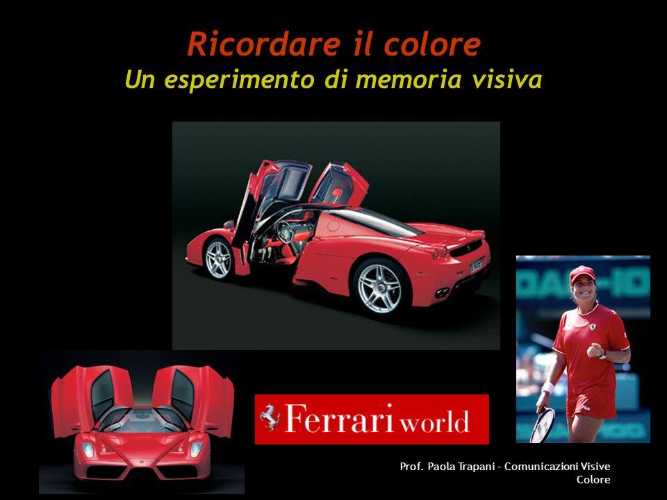 AA 2004/05Prof. Paola Trapani - Comunicazioni Visive Colore Ricordare il colore Un esperimento di memoria visiva