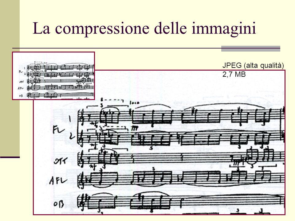Luca A. Ludovico - LIM - DICo La compressione delle immagini JPEG (alta qualità) 2,7 MB