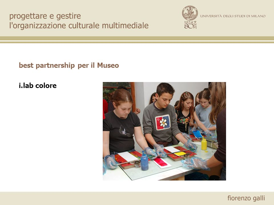 best partnership per il Museo i.lab colore