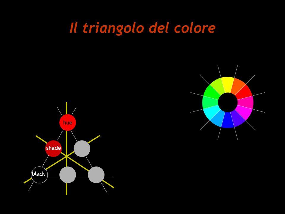 Il triangolo del colore hue shade black