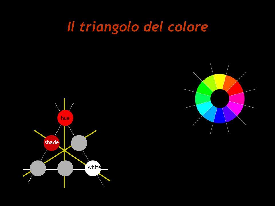 Il triangolo del colore hue shade white