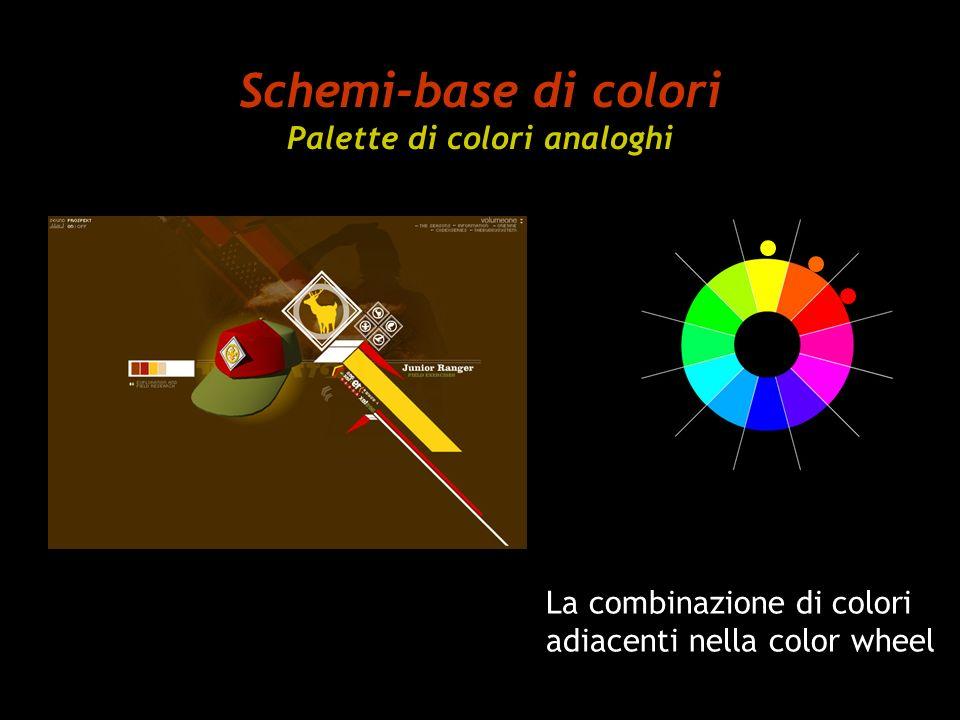 Schemi-base di colori Palette di colori analoghi La combinazione di colori adiacenti nella color wheel