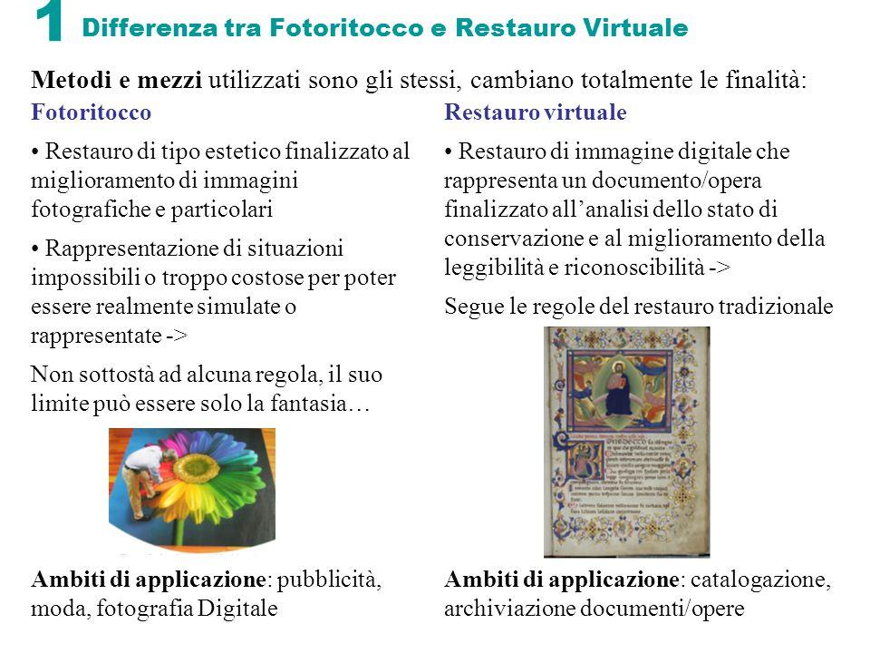 12 Terza Fase: ricostruzione/restauro Il ripristino iconologico-virtuale non è sempre possibile per opere molto rovinate e con vaste mancanze.