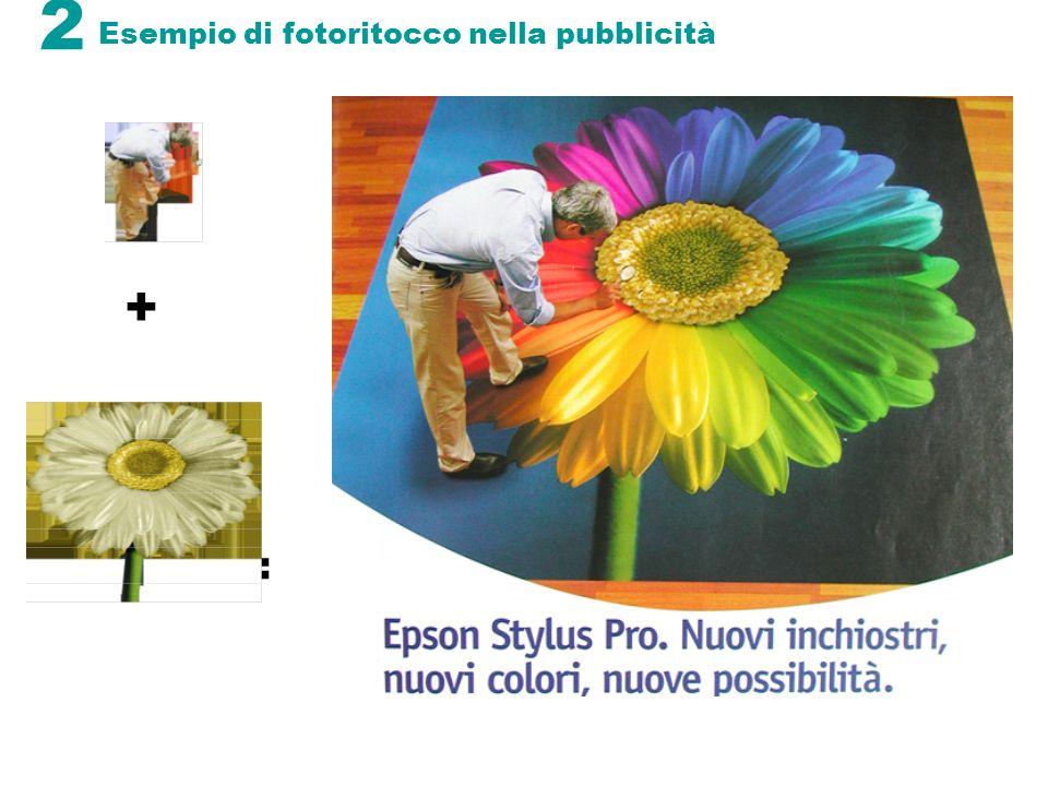 2 Esempio di fotoritocco nella pubblicità + =