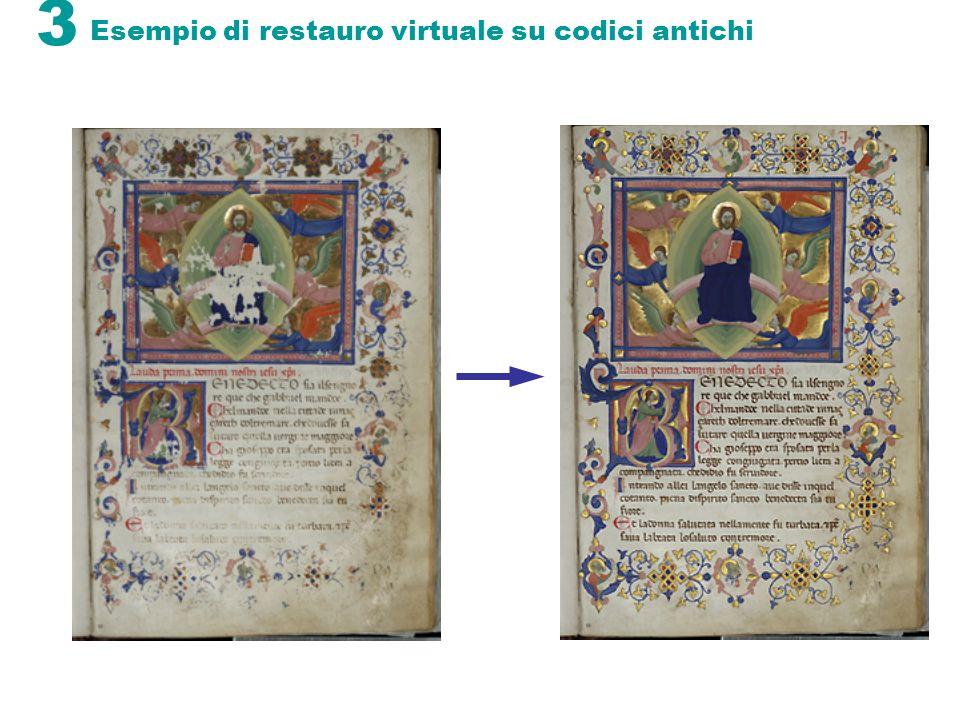3 Esempio di restauro virtuale su codici antichi
