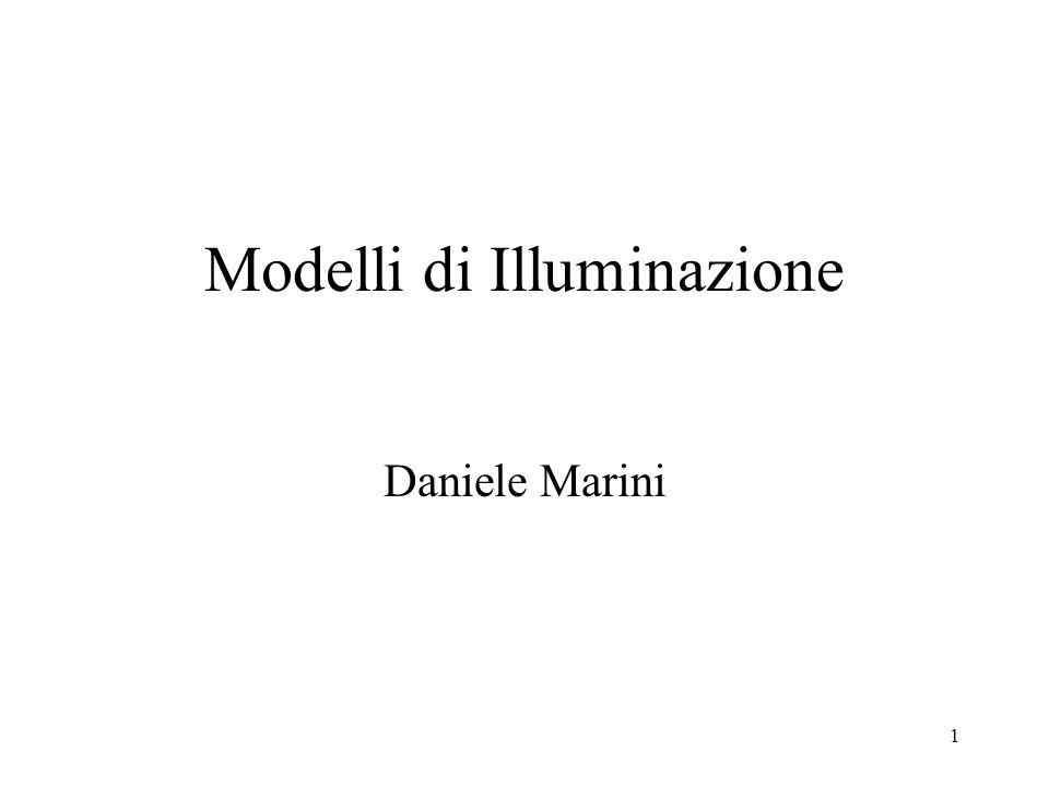 2 Obiettivo Visualizzare scene cercando di simulare al meglio la realtà Interazione luce-materiali –Modellare le sorgenti di luce –Modellare lapparenza visiva dei materiali –Calcolare linterazione