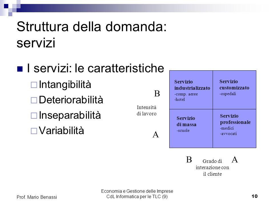 Economia e Gestione delle Imprese CdL Informatica per le TLC (9)10 Prof.