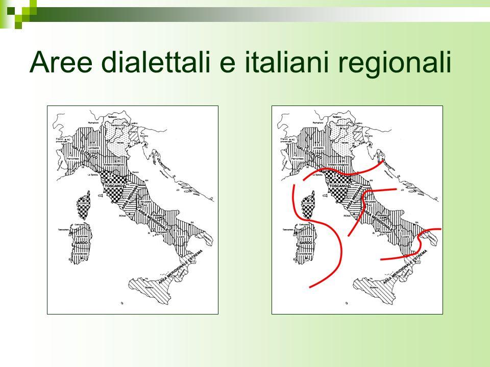 Aree dialettali e italiani regionali