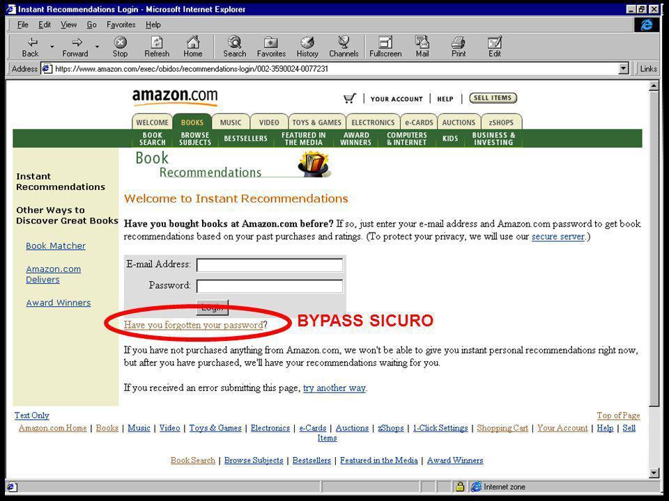 IUM20048 lezione 26 marzo 200322 BYPASS SICURO