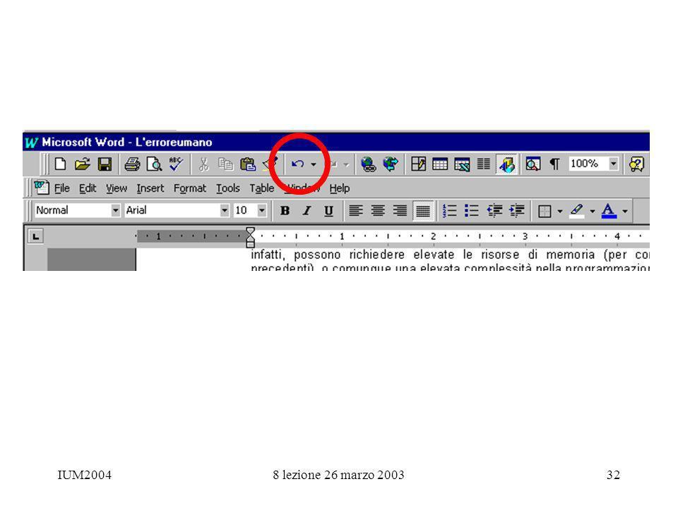 IUM20048 lezione 26 marzo 200332