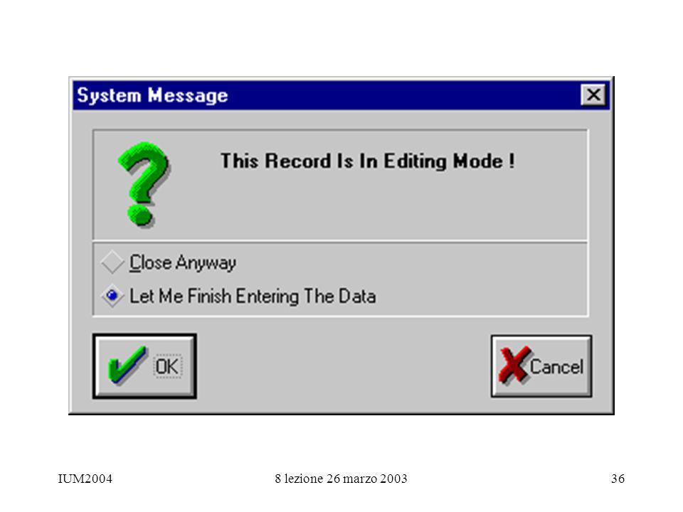 IUM20048 lezione 26 marzo 200336