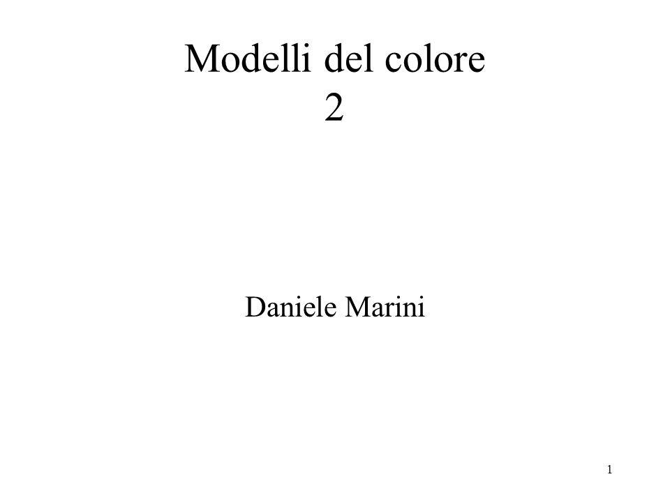2 Ogni colore è rappresentato da un vettore nello spazio tridimensionale I colori sono rappresentati da una terna di numeri XYZ (valori di tristimolo) I colori possono essere ambientati in uno spazio tridimensionale Spazio Colore