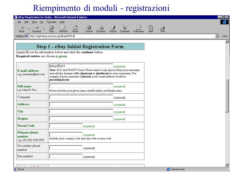 3.a LezioneG. Valle IUM2004 Turno A45 Riempimento di moduli - registrazioni