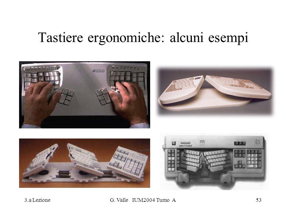 3.a LezioneG. Valle IUM2004 Turno A53 Tastiere ergonomiche: alcuni esempi