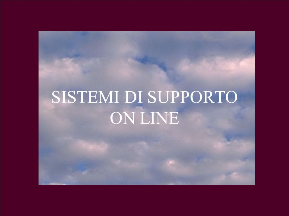 3.a LezioneG. Valle IUM2004 Turno A64 SISTEMI DI SUPPORTO ON LINE