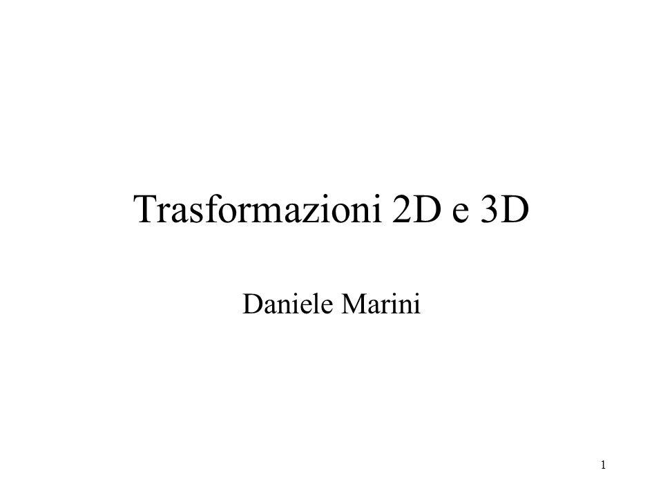 1 Trasformazioni 2D e 3D Daniele Marini