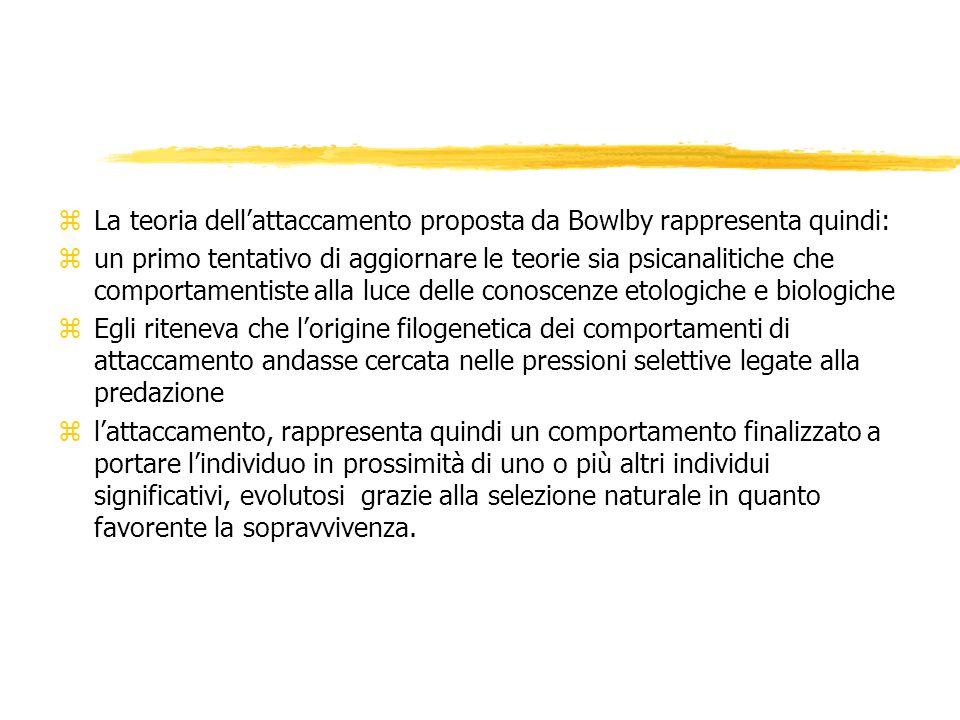 zLa teoria dellattaccamento proposta da Bowlby rappresenta quindi: zun primo tentativo di aggiornare le teorie sia psicanalitiche che comportamentiste