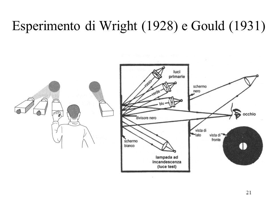 21 Esperimento di Wright (1928) e Gould (1931)