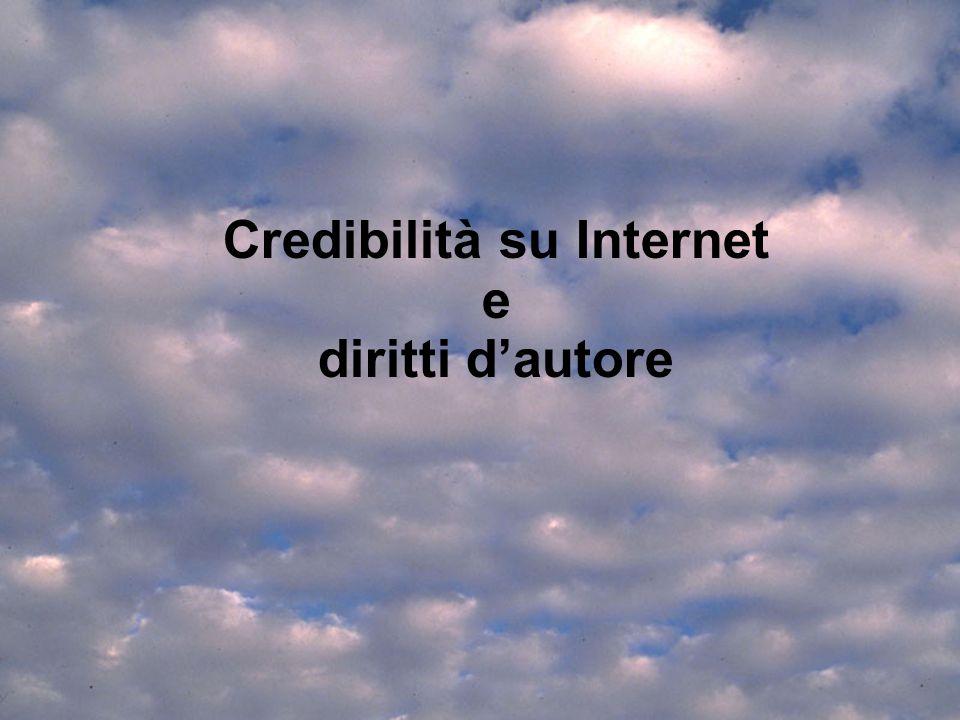 22.2 Credibilità e Diritti 2405041 Credibilità su Internet e diritti dautore