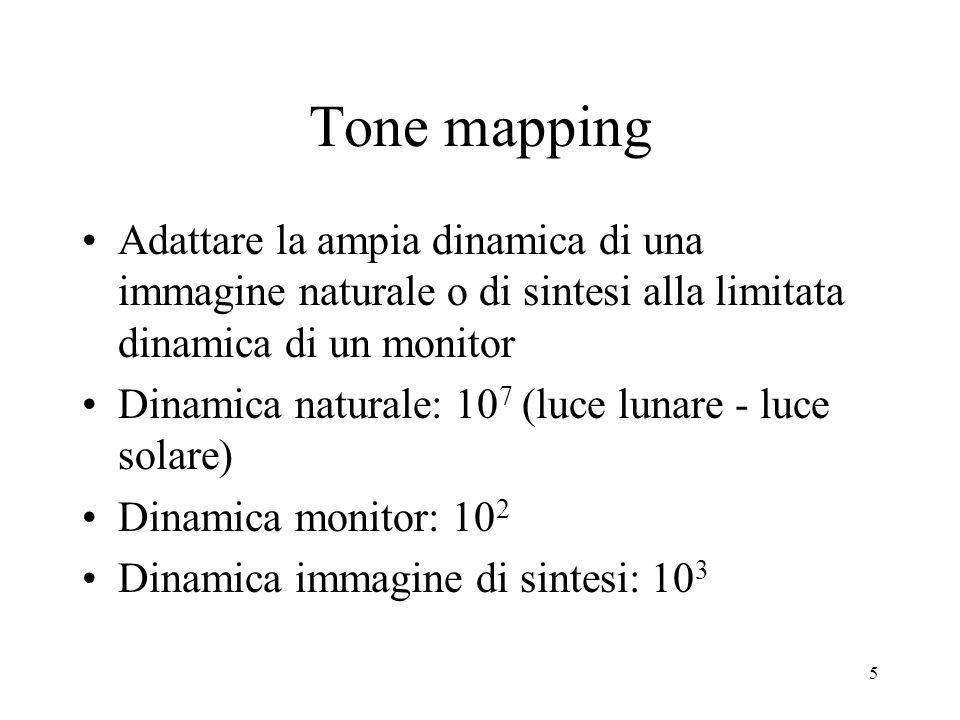 6 2 problemi Riprodurre la dinamica dei toni (tone mapping) Recuperare il colore corrispondente (color constancy)