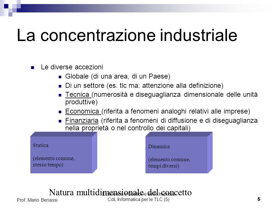 Economia e Gestione delle Imprese CdL Informatica per le TLC (5)5 Prof.