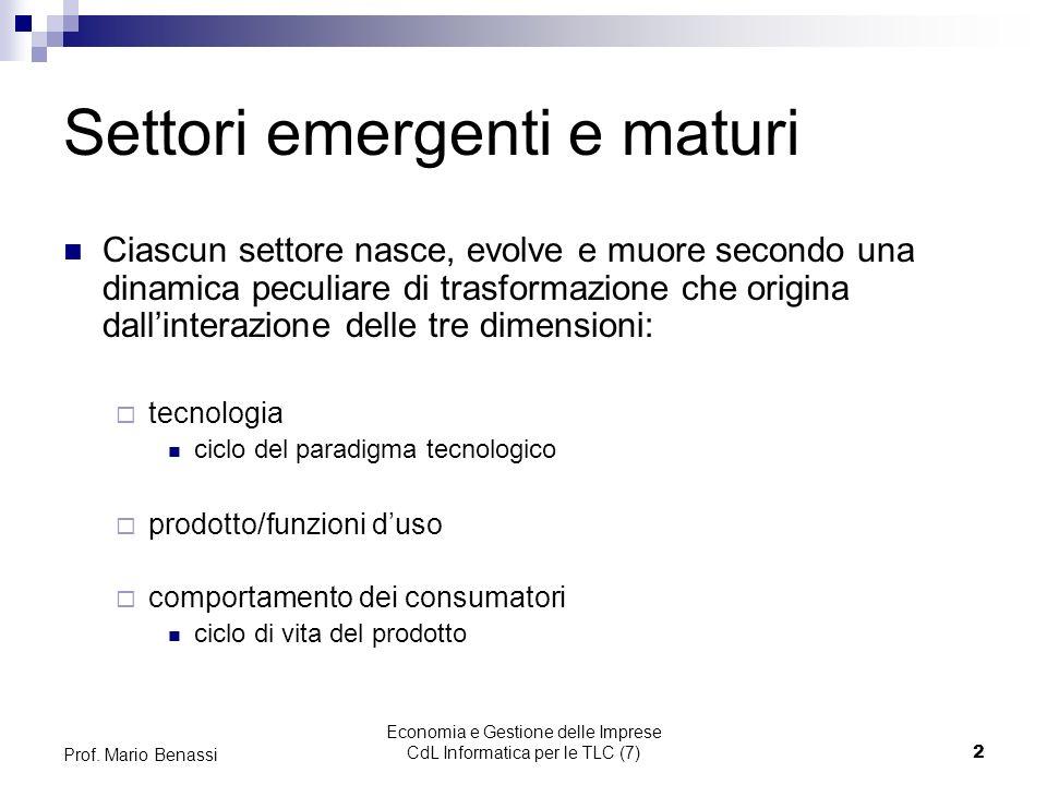 Economia e Gestione delle Imprese CdL Informatica per le TLC (7)2 Prof.