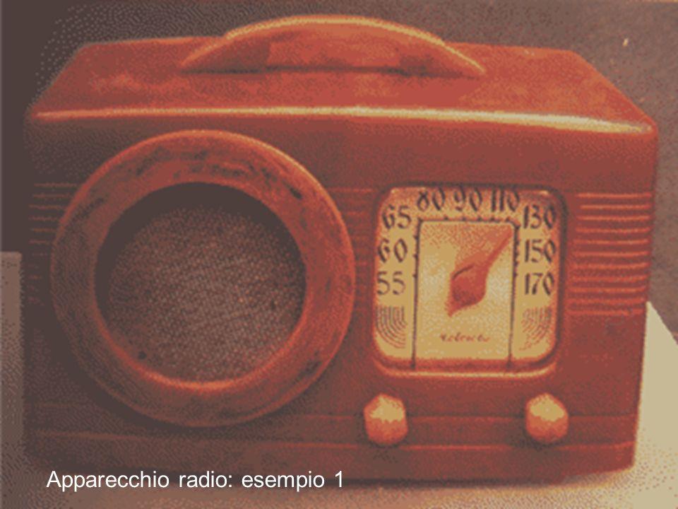 14 lezione 3 Maggio 200418 Apparecchio radio: esempio 1