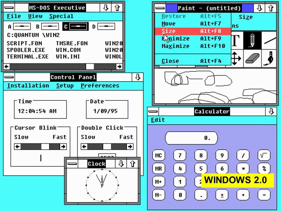 14 lezione 3 Maggio 200426 WINDOWS 2.0