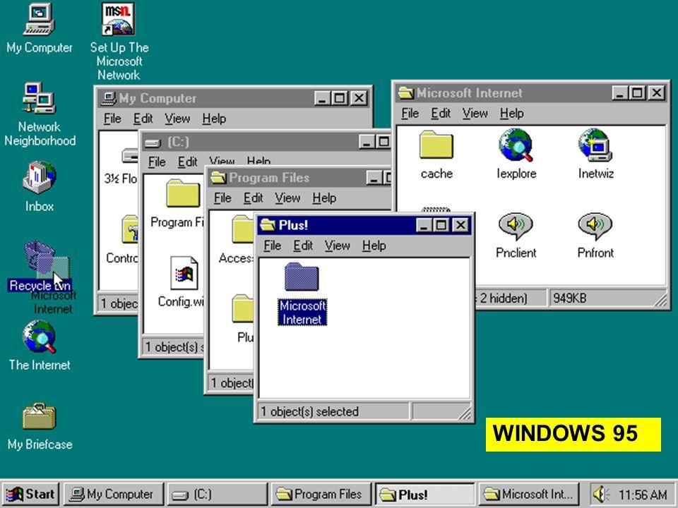14 lezione 3 Maggio 200427 WINDOWS 95