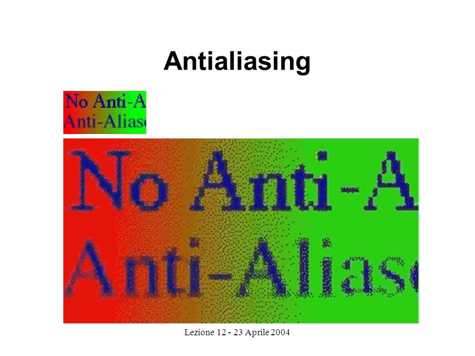 Lezione 12 - 23 Aprile 2004 Antialiasing