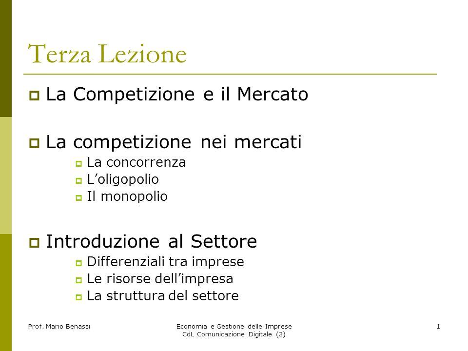 Economia e Gestione delle Imprese CdL Comunicazione Digitale (3)22 Prof.