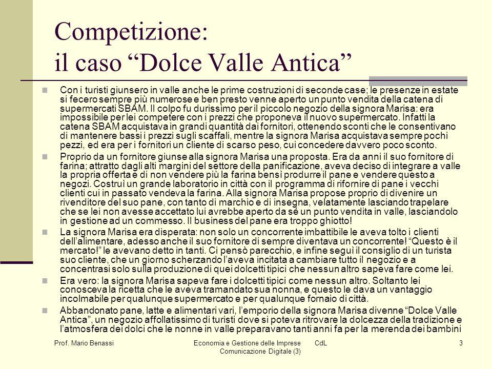 Economia e Gestione delle Imprese CdL Comunicazione Digitale (3)4 Prof.