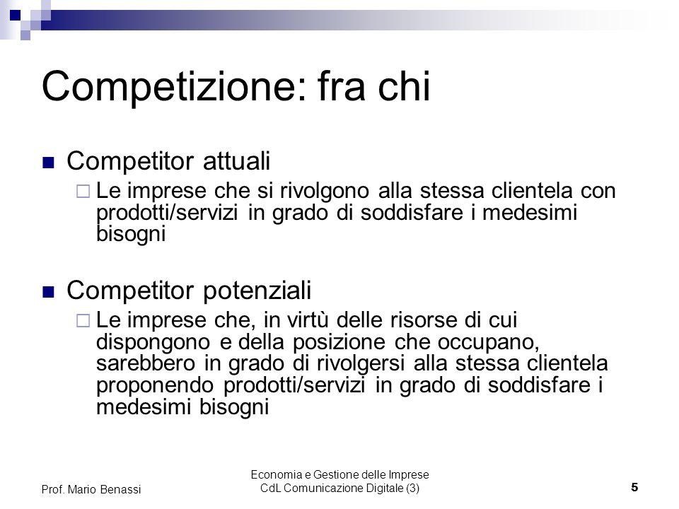 Economia e Gestione delle Imprese CdL Comunicazione Digitale (3)6 Prof.