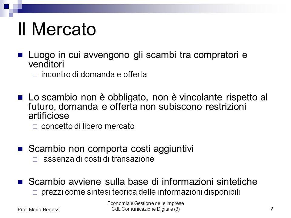 Economia e Gestione delle Imprese CdL Comunicazione Digitale (3)7 Prof.