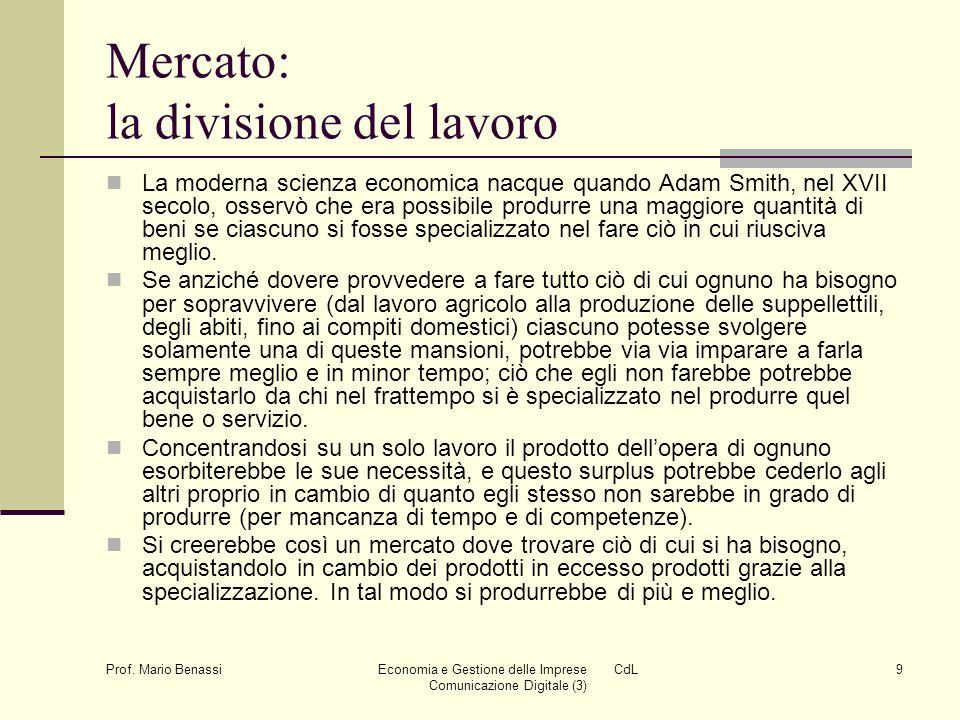 Economia e Gestione delle Imprese CdL Comunicazione Digitale (3)20 Prof.