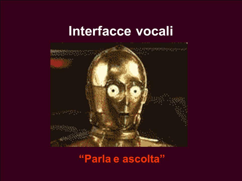 Lezione 13 - 26 Aprile 200412 Interfacce vocali Parla e ascolta