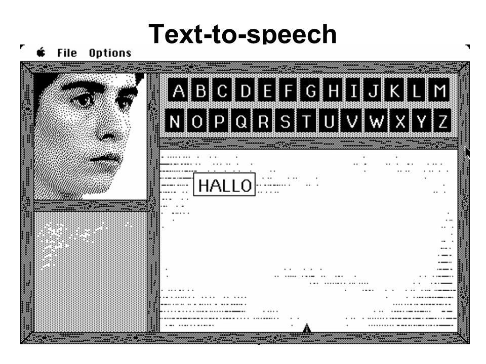 Lezione 13 - 26 Aprile 200414 Text-to-speech