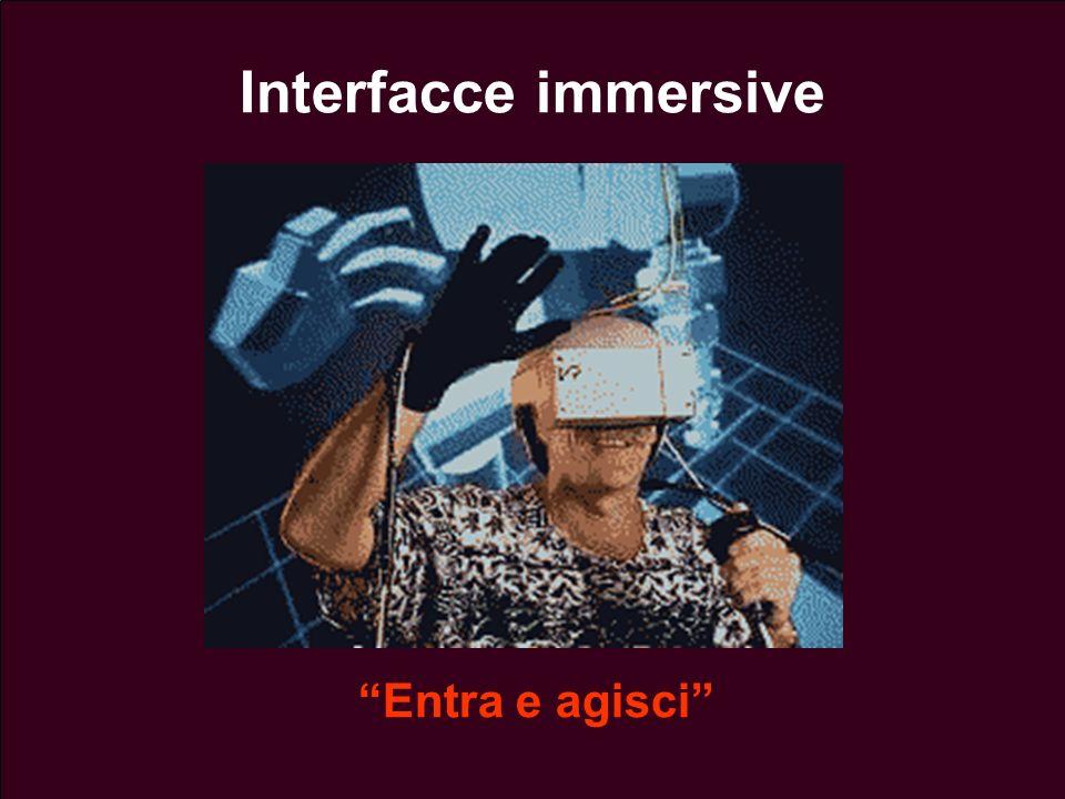 Lezione 13 - 26 Aprile 200436 Interfacce immersive Entra e agisci