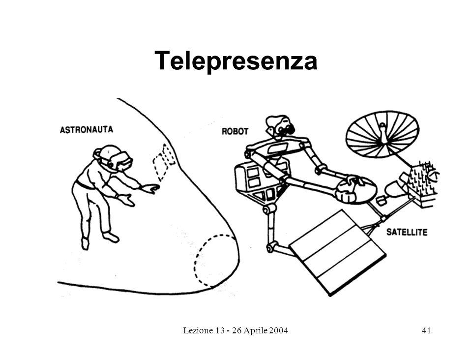 Lezione 13 - 26 Aprile 200441 Telepresenza