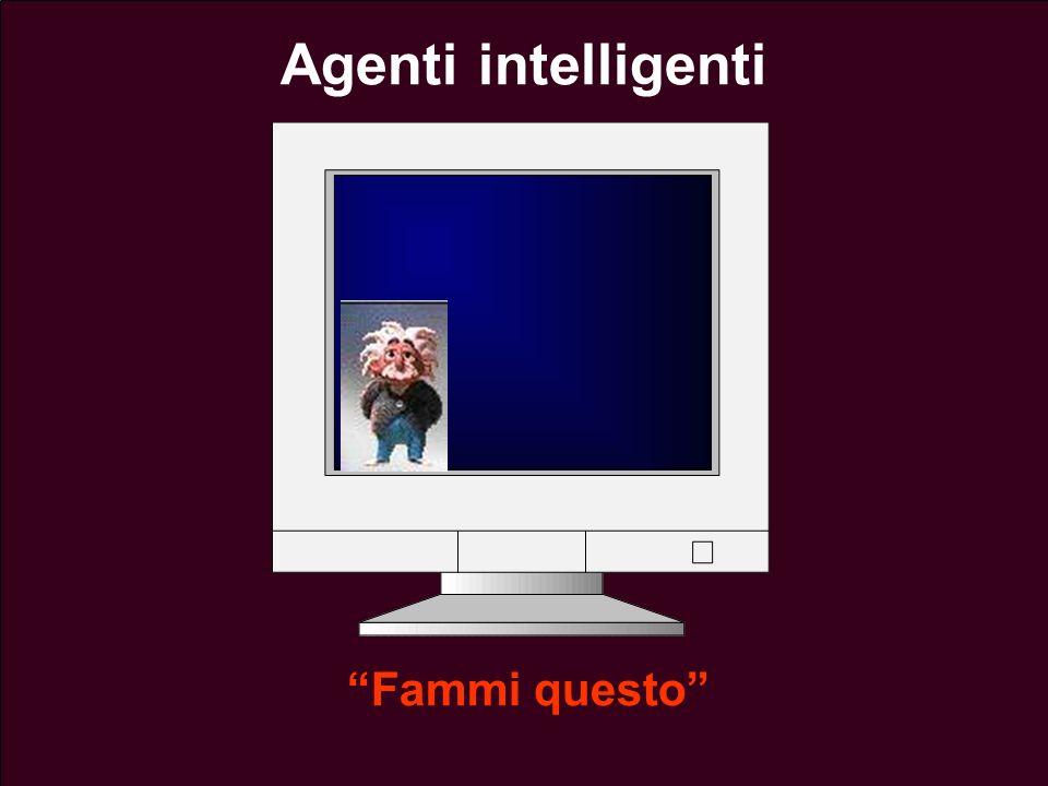 Lezione 13 - 26 Aprile 200445 Agenti intelligenti Fammi questo