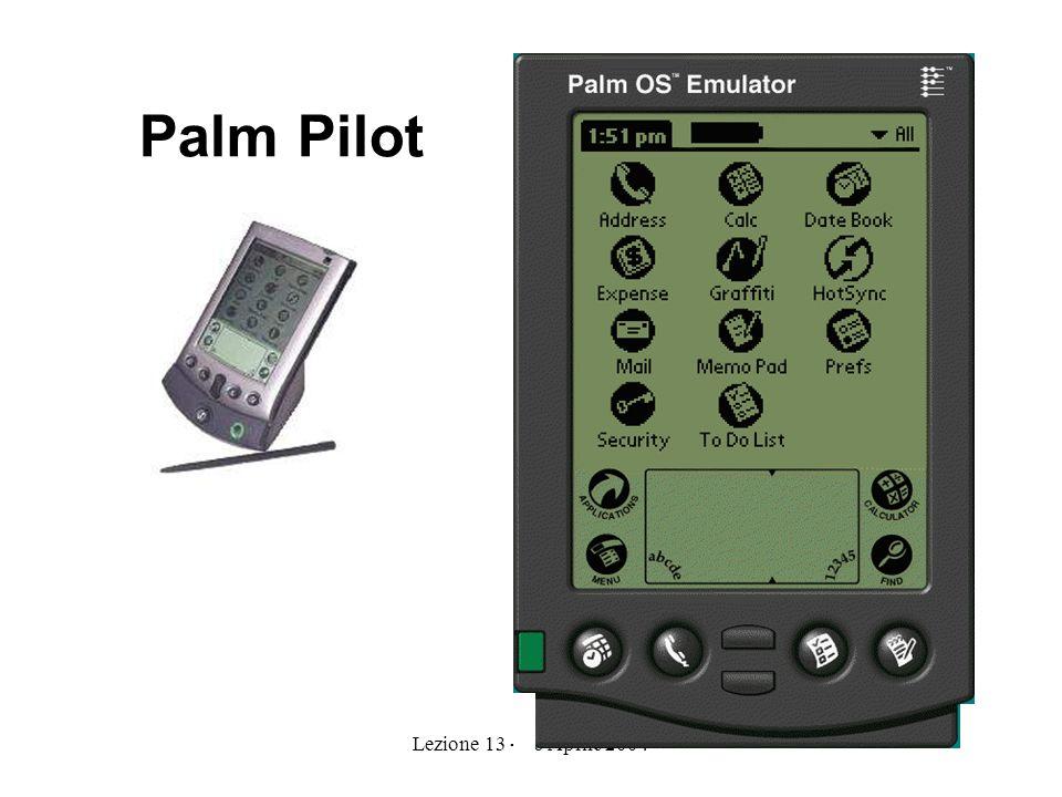 Lezione 13 - 26 Aprile 20047 Palm Pilot