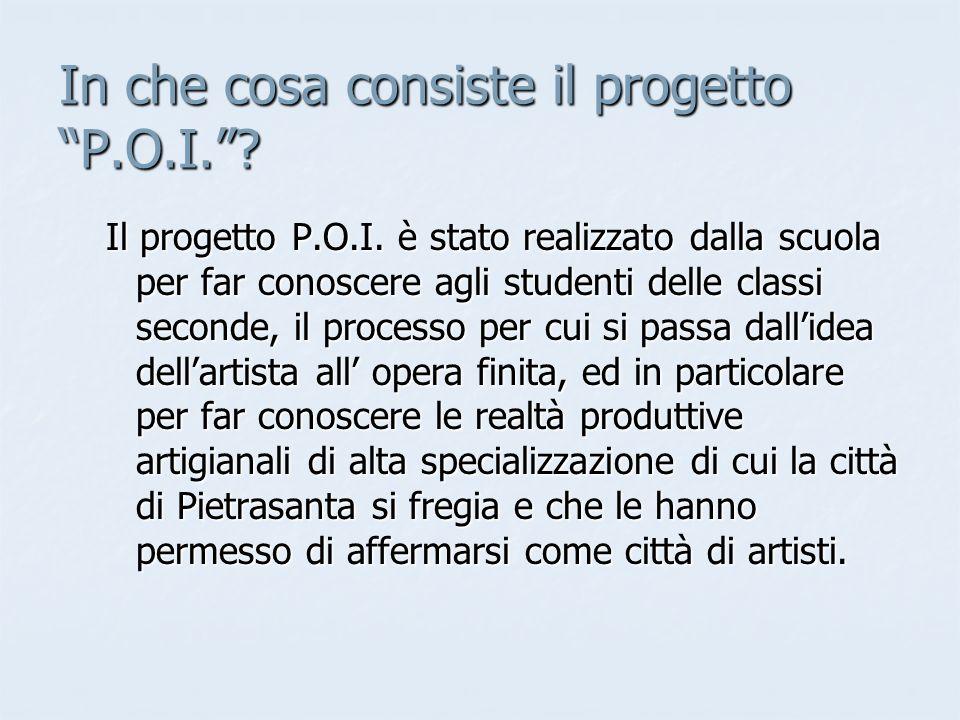 In che cosa consiste il progetto P.O.I..Il progetto P.O.I.
