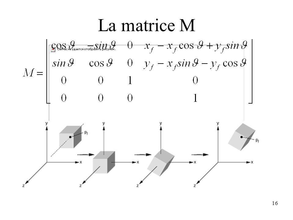 16 La matrice M
