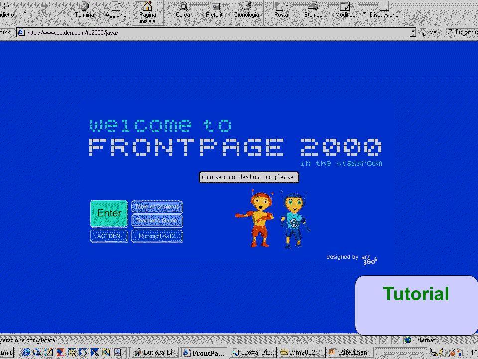24. Lezione 30/5/03 Creazione pagine web Tutorial